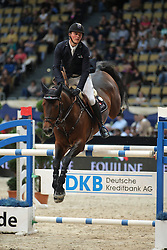Tebbel Maurice, (GER), Chacco's Son<br /> DKB-Riders Tour<br /> Grand Prix Kreditbank Jumping München 2015<br /> © Hippo Foto - Stefan Lafrentz
