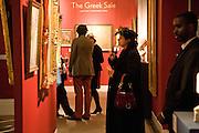 MARTHA CHRYSOMALIS, Preview of Greek Sale sponsored by Citibank. Sotheby's. New Bond st. London. 10 November 2008 *** Local Caption *** -DO NOT ARCHIVE -Copyright Photograph by Dafydd Jones. 248 Clapham Rd. London SW9 0PZ. Tel 0207 820 0771. www.dafjones.com