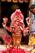 Bhairava, is the fierce manifestation of Shiva associated with annihilation and has a dog as his divine vahana (vehicle). Festival at small Hindu temple off Jampettah Street.