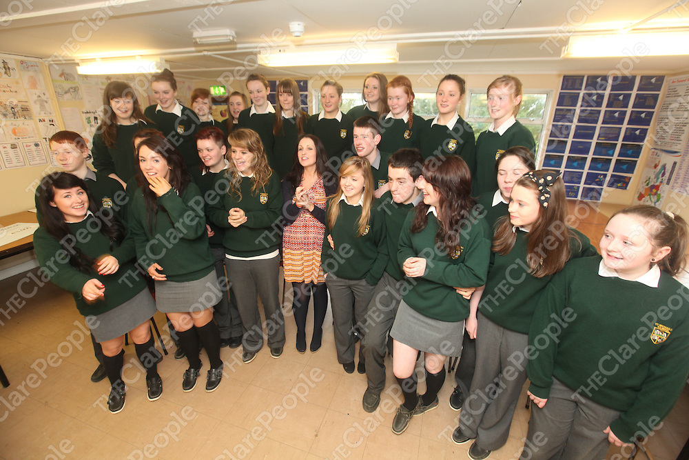 The Club Gaeilge Gaga at Kilmihils St Michaels Community School on Monday.<br /> Pic. Brian Arthur/ Press 22.