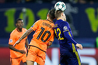 MARIBOR, SLOVENIA - OCTOBER 17: Philippe Coutinho of Liverpool FC vs Martin Milec of NK Maribor during UEFA Champions League 2017/18 group E match between NK Maribor and Liverpool FC at Stadium Ljudski vrt, on October 17, 2017 in Maribor, Slovenia. (Photo by Vid Ponikvar / Sportida)