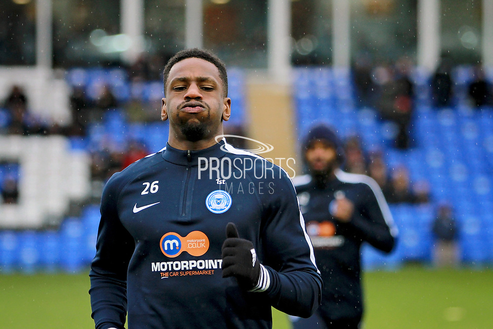 Peterborough United new signing, forward Omar Bogle (26) before the EFL Sky Bet League 1 match between Peterborough United and Southend United at London Road, Peterborough, England on 3 February 2018. Picture by Nigel Cole.
