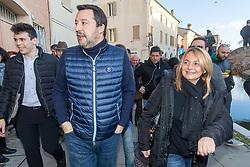 SALVINI CON MAURA TOMASI<br /> MATTEO SALVINI A COMACCHIO PER LA CAMPAGNA ELETTORALE ELEZIONI REGIONALI 2020