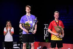 DK:<br /> 20190209, &Aring;rhus, Danmark:<br /> Badminton Danmark FZ Forza/RSL DM 2019. <br /> Here single: Steffen Rasmussen vs. Anders Antonsen.<br /> Guldvinder Anders Antonsen og S&oslash;lvvinder Steffen Rasmussen.<br /> Foto: Lars M&oslash;ller<br /> UK: <br /> 20190209, Aarhus, Denmark:<br /> Badminton Danmark FZ Forza/RSL DM 2019.<br /> Here single: Steffen Rasmussen vs. Anders Antonsen.<br /> Photo: Lars Moeller