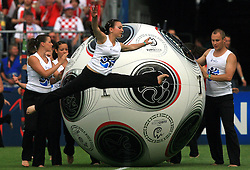 Ceremony before the UEFA EURO 2008 Group B soccer match between Austria and Croatia at Ernst-Happel Stadium, on June 8,2008, in Vienna, Austria.  (Photo by Vid Ponikvar / Sportal Images)
