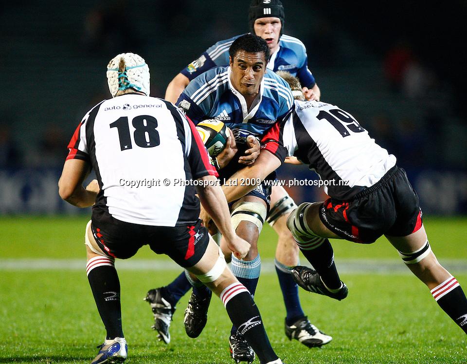 Blues Jerome Kaino. Super 14 rugby union match, Auckland Blues v Lions, Eden Park, Auckland. 10 April 2009. Photo: Simon Watts/PHOTOSPORT