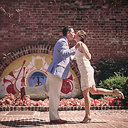 Images from a mini-wedding shoot for Tracy and Matt at Dock Street Theatre courtyard in Charleston, South Carolina.