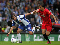 Photo: Paul Thomas.<br /> Espanyol v Sevilla. UEFA Cup Final. 16/05/2007.<br /> <br /> Francisco Rufete (L) tries to get around Enzo Maresca of Sevilla.
