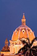San Pedro Claver Church dome (1603), Cartagena<br />  de Indias,<br />  Bolivar Department,<br />  Colombia, South America.