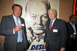 Left to right, PHILIP RICHARDS and WINSTON CHURCHILL at the launch of the Imperial War Museum's 70th anniversary commemorating the outbreak of World War 11 held at the Cabinet War Rooms, Whitehall, London on 2nd September 2009.
