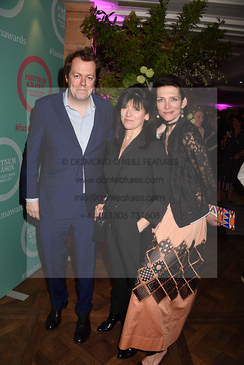Tom Parker Bowles, Emme Freud and Thomasina Miers at the 2017 Fortnum &amp; Mason Food &amp; Drink Awards held at Fortnum &amp; Mason, Piccadilly London England. 11 May 2017.<br /> Photo by Dominic O'Neill/SilverHub 0203 174 1069 sales@silverhubmedia.com