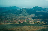 A mountainous landscape in Kenya.