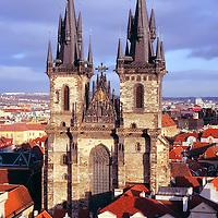 Europe, Czech Republic, Prague. Church of Our Lady before Tyn, Prague.