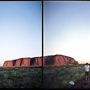 Picture taken with a Holga. Uluru (Ayers Rock or Red Rock) in Northern Territory.
