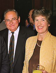 MR & MRS EDDIE GEORGE he is Governor of the Bank of England, at a reception in London on 20th April 1999.MRF 26 2oro