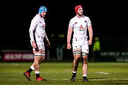 JJ Tonks and George Hammond of England - Mandatory by-line: Robbie Stephenson/JMP - 07/02/2020 - RUGBY - Myreside - Edinburgh, Scotland - Scotland U20 v England U20 - Six Nations U20