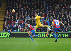 Liverpool's Rickie Lambert with a chance in the first half.- Photo mandatory by-line: Alex James/JMP - Mobile: 07966 386802 - 23/11/2014 - Sport - Football - London -  - Crystal palace  v Liverpool - Barclays Premier League