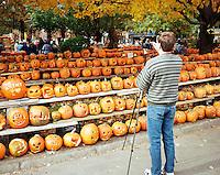 Photographing Jack o Lanterns, Keene Pumpkin Festival