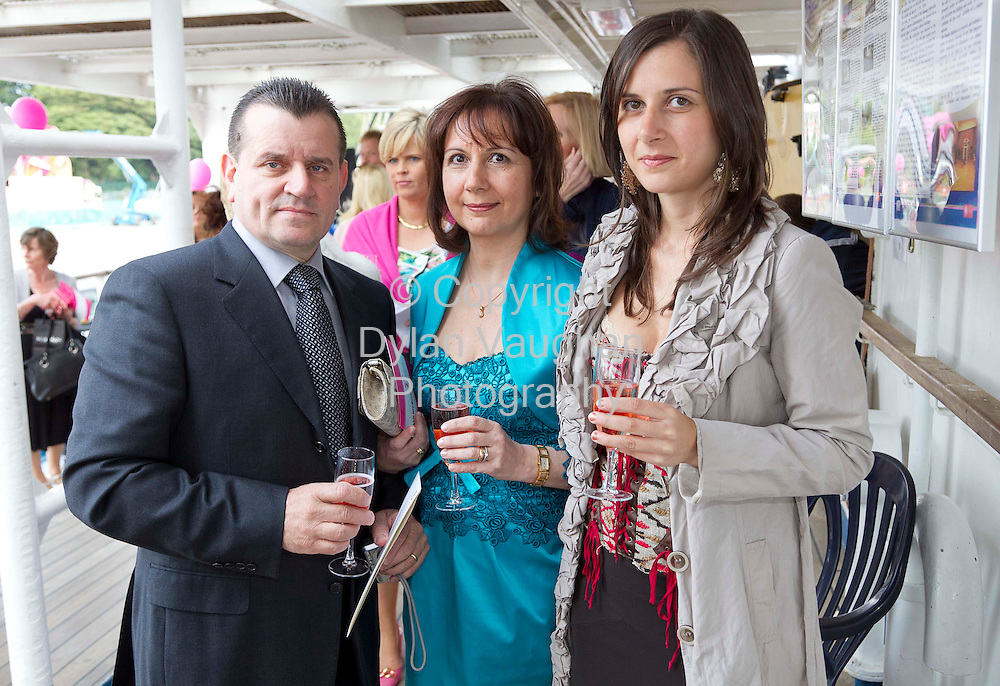 1/7/2011.no charge for repro.Angelo Dicamillo, Lina Dicamillo and Maria Angela Dicamillo of Marian takeaway pictured at the Fashion Show on board the Mir Tall Ship.Picture Dylan Vaughan