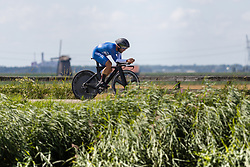 HITMAN Aharon from ISRAEL during Men Elite Time Trial at 2019 UEC European Road Championships, Alkmaar, The Netherlands, 8 August 2019. <br /> <br /> Photo by Thomas van Bracht / PelotonPhotos.com <br /> <br /> All photos usage must carry mandatory copyright credit (Peloton Photos | Thomas van Bracht)