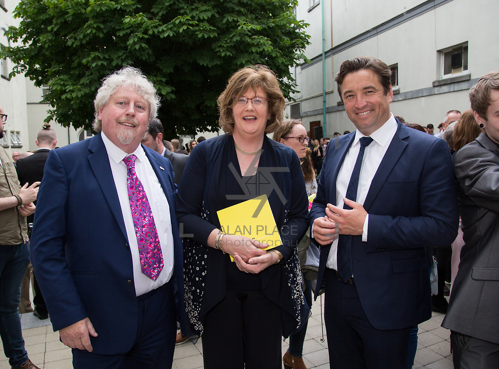11.06.2017         <br /> International award winning artists are among the almost 200 graduates of Limerick School of Art and Design who's work went on exhibition at the LSAD Graduate Show 2017.<br /> <br /> Pictured at the awards ceremony were, Mike Fitzpatrick, Head LSAD, Senator Maria Byrne and John Concannon, Director Creative Ireland.<br /> <br />  <br /> Students from the college took control of the over-riding message of this historical show as they conceptualised, designed and delivered on the theme - be.cause.<br />  <br /> The hypothesis conceived by Graphic Design graduates Cassandra Walsh and David Reilly, is derived from the fact the graduates have now reached a stage where they are confident with their work, their interpretations and creative solutions. As creative minds they have an innate need to &ldquo;do&rdquo; something. There is just this need to create, be.cause.<br /> . Picture: Alan Place.