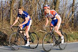 Virginia Cavaliers U.S. National Collegiate Champion Mark Hardman and Virginia Cavaliers Michael Esbach..Members of the University of Virginia Cycling Team met at Reeds Gap on the Blue Ridge Parkway in Virginia on April 9, 2007 for a team photo shoot.