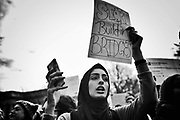 Thousands marched and protested in front of White House, Trump Hotel and The Capitol in support of immigrants and refugees. January 29th 2017, Washington DC
