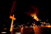 Belo Horizonte _ MG, 06 de agosto de 2007..Incendio destroi 80% da vegetacao na Serra do Cural, tradicional cartao postal da cidade de Belo Horizonte...FOTOS: BRUNO MAGALHAES / AGENCIA NITRO