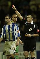 Photo: Aidan Ellis.<br /> Huddersfield Town v Swansea City. Coca Cola League 1. 30/12/2006.<br /> Swansea's Lee Trundle is sent off