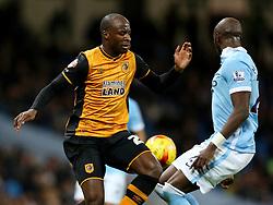 Sone Aluko of Hull City  - Mandatory byline: Matt McNulty/JMP - 01/12/2015 - Football - Etihad Stadium - Manchester, England - Manchester City v Hull City - Capital One Cup - Quarter-final