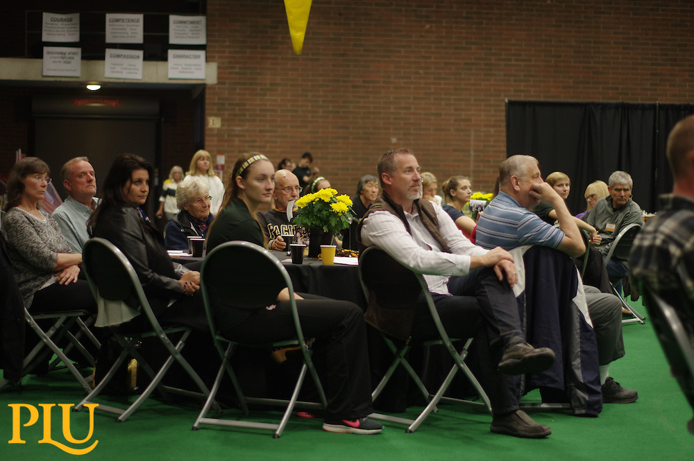 Alumni Volleyball Dinner at PLU on Saturday, October 10, 2015. (Photo/Angelo Mejia '17)