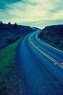 Highway 1 near Stinson Beach, California.  The film is cross-processed.