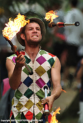 A very talented Gypsey Geoff thrills the crowd with his curbside show during the Bristol Renaissance Faire.