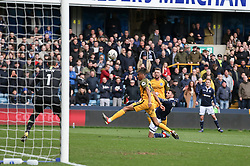 Lee Gregory of Millwall shoots - Mandatory by-line: Arron Gent/JMP - 17/03/2019 - FOOTBALL - The Den - London, England - Millwall v Brighton and Hove Albion - Emirates FA Cup Quarter Final