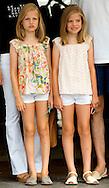 Palma de Mallorca, 08-08-2015<br /> <br /> <br /> King Felipe and Queen Letizia with their daughters Princess Leonore and Princess Sofia at the Copa del Rey<br /> .<br /> Royalportraits Europe/Bernard Ruebsamen