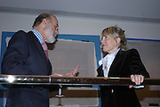 Prince Michael of Kent and Rosie Marchioness of Northampton. 'The Road to Abtsraction' an exhibition of paintings by Rosita Marlborough. the Fleming Collection. 13 Berkeley St. London W1. 31 March 2005. ONE TIME USE ONLY - DO NOT ARCHIVE  © Copyright Photograph by Dafydd Jones 66 Stockwell Park Rd. London SW9 0DA Tel 020 7733 0108 www.dafjones.com