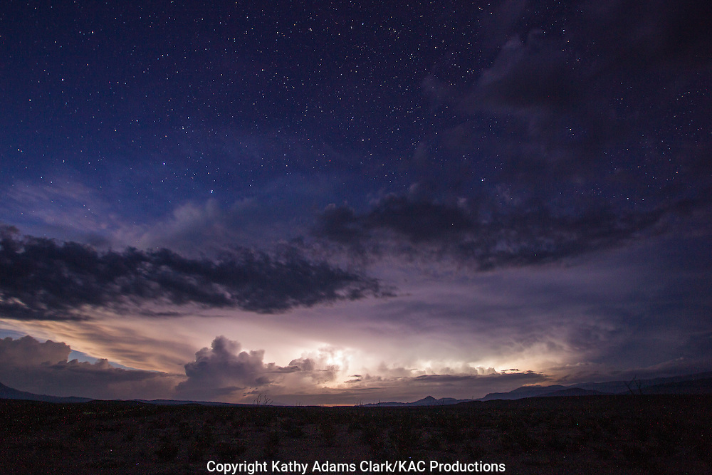 Storm clouds at Big Bend National Park, Texas in late summer.