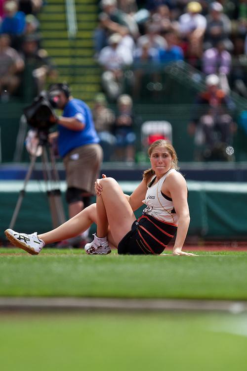 2012 USA Track & Field Olympic Trials: Kara Patterson injury