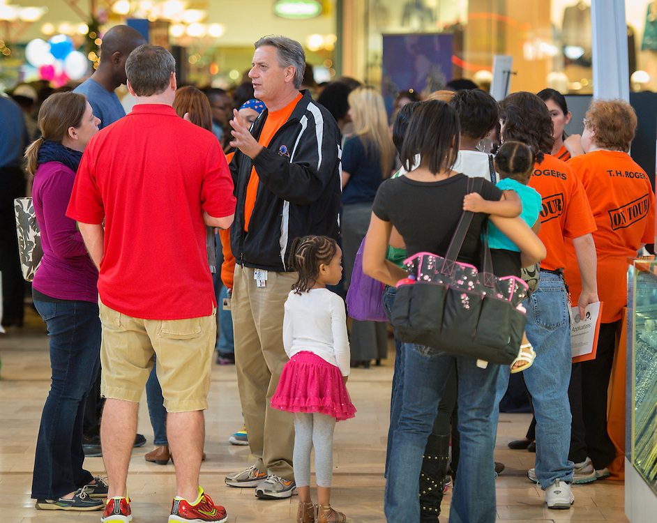 Houston ISD School Choice Fair at Northwest Mall, November 2, 2013.