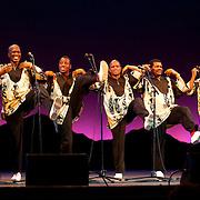 Ladysmith Black Mambazo performing at The Music Hall, Portsmouth, NH. L to R: Sibongiseni Shabalala, Thamsanqa Shabalala, Albert Mazibuko, Ngane Dlamini, Msizi Shabalala, Russel Methembu, Thulani Shabalala, and Abednego Mazibuko