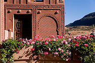 Morocco Taramaout area, near Toubkal mountain in Atlas mountain    Hotel Kasbah Tamadot,  Richard Branson retreat , Virgin limited edition hotels