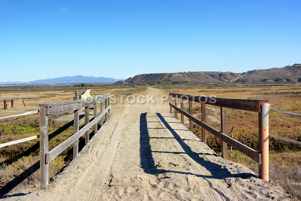 Crossing through the Border Field State Park  Within the Tijuana River National Estuarine Research Reserve