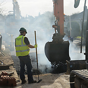 Road resurfacing works