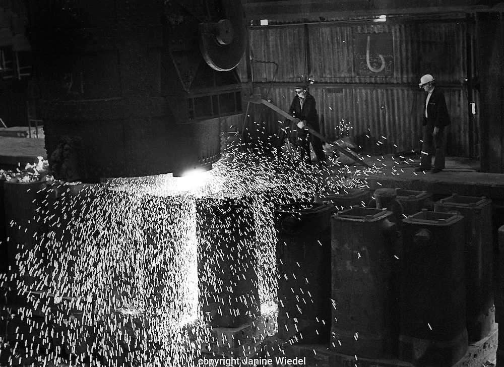 Bilston Steelworks Open Heart furnace in The Black Country West Midlands in the 1978 . It closed down in 1979