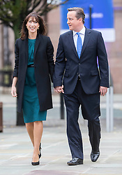 David Cameron Keynote Speech.<br /> Prime Minister David Cameron and his wife Samantha, arrive for his keynote speech to the Conservative Party Conference, Manchester, United Kingdom. Wednesday, 2nd October 2013. Picture by i-Images