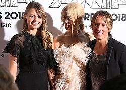 AU_1417395 - Sydney, AUSTRALIA  -  Nicole Kidman and Keith Urban with Nicole's niece Lucia on the Aria Awards Red Carpet Arrivals at the Star in Sydney, Australia<br />