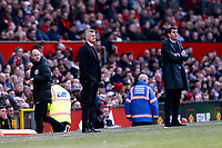 Football - 2018 / 2019 Premier League - Manchester United vs. Watford<br /> <br /> Manchester United manager Ole Gunnar Solskjaer and Watford manager Javi Gracia look on from the technical area, at Old Trafford.<br /> <br /> COLORSPORT/ALAN MARTIN