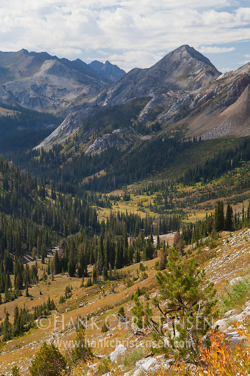 The descent from Hawkins Pass gives the hiker impressive views of the Imnaha Valley, Eagle Cap Wilderness, Oregon