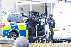 © Licensed to London News Pictures. 19/07/2020. Brighton, UK. Armed police and paramedic units are outside the Sussex Royal Hospital in Brighton And Hove after one male member of staff was stabbed by a member of the public. Photo credit: Hugo Michiels/LNP