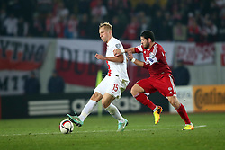 14.11.2014, Boris Paitschadse Nationalstadion, Tiflis, GEO, UEFA Euro Qualifikation, Georgien vs Polen, Gruppe D, im Bild KAMIL GLIK MURTAZ DAUSHVILI // during the UEFA EURO 2016 Qualifier group D match between Georgia and Poland at the Boris Paitschadse Nationalstadion in Tiflis, Georgia on 2014/11/14. EXPA Pictures &copy; 2014, PhotoCredit: EXPA/ Newspix/ Piotr Kucza<br /> <br /> *****ATTENTION - for AUT, SLO, CRO, SRB, BIH, MAZ, TUR, SUI, SWE only*****